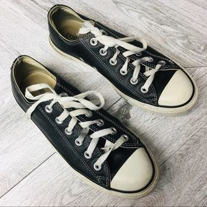 Converse | Ctas pro Low Top Black Leather All Star